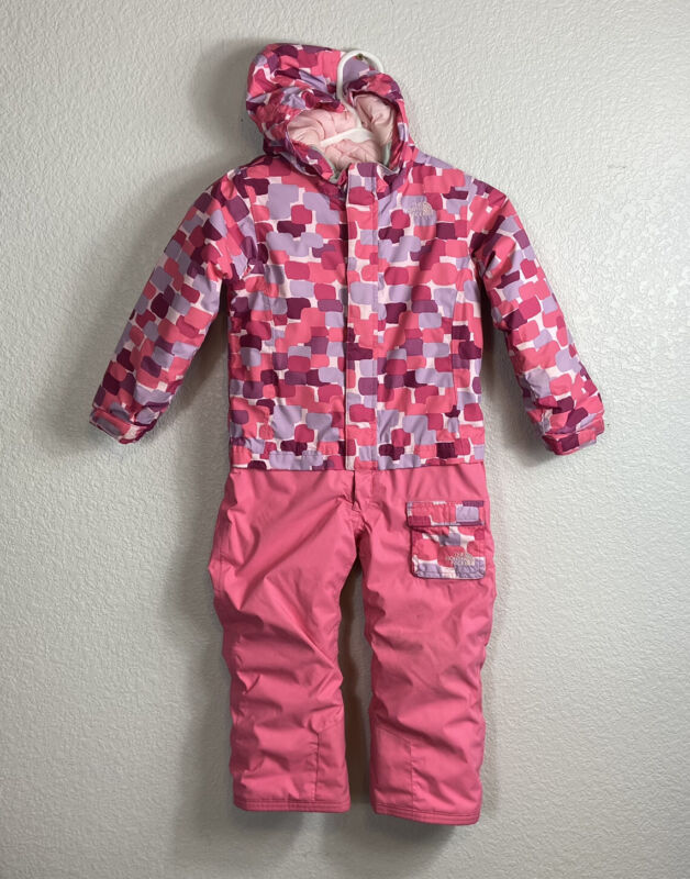 The North Face Toddler Insulated Jumpsuit 4T Pink Purple Snowsuit Winter Kids
