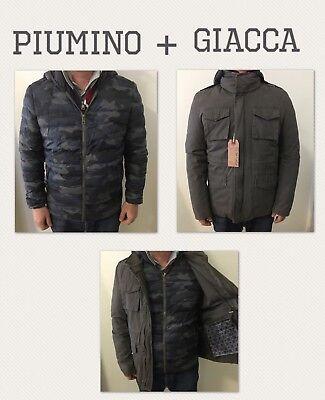 Uomo Piumino + Giacca Giubbotto Giubbino Parka - Militare Mimetico usato  Arpino b7577561eff