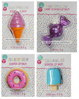 TRICOASTAL* 1pc SCENTED LIP BALM Figural Container FOOD+CANDY Shape *YOU CHOOSE*