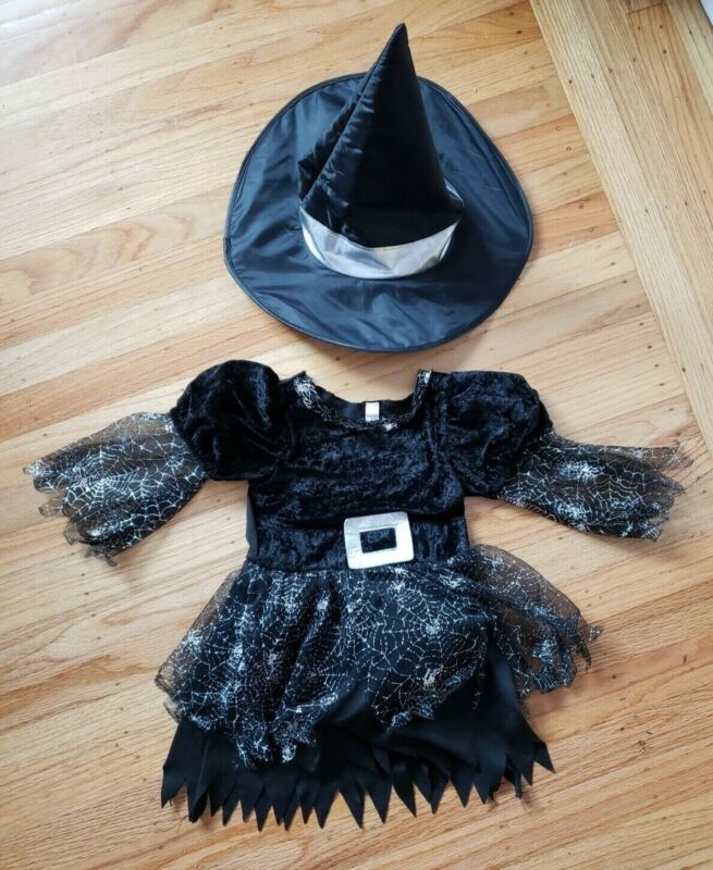 Halloween Witch Costume, Toddler 3-4, Used, in great shape