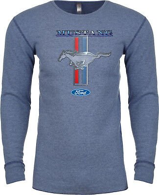 Stripe Long Sleeve Thermal (Buy Cool Shirts Ford Mustang T-shirt Stripe Long Sleeve Thermal)