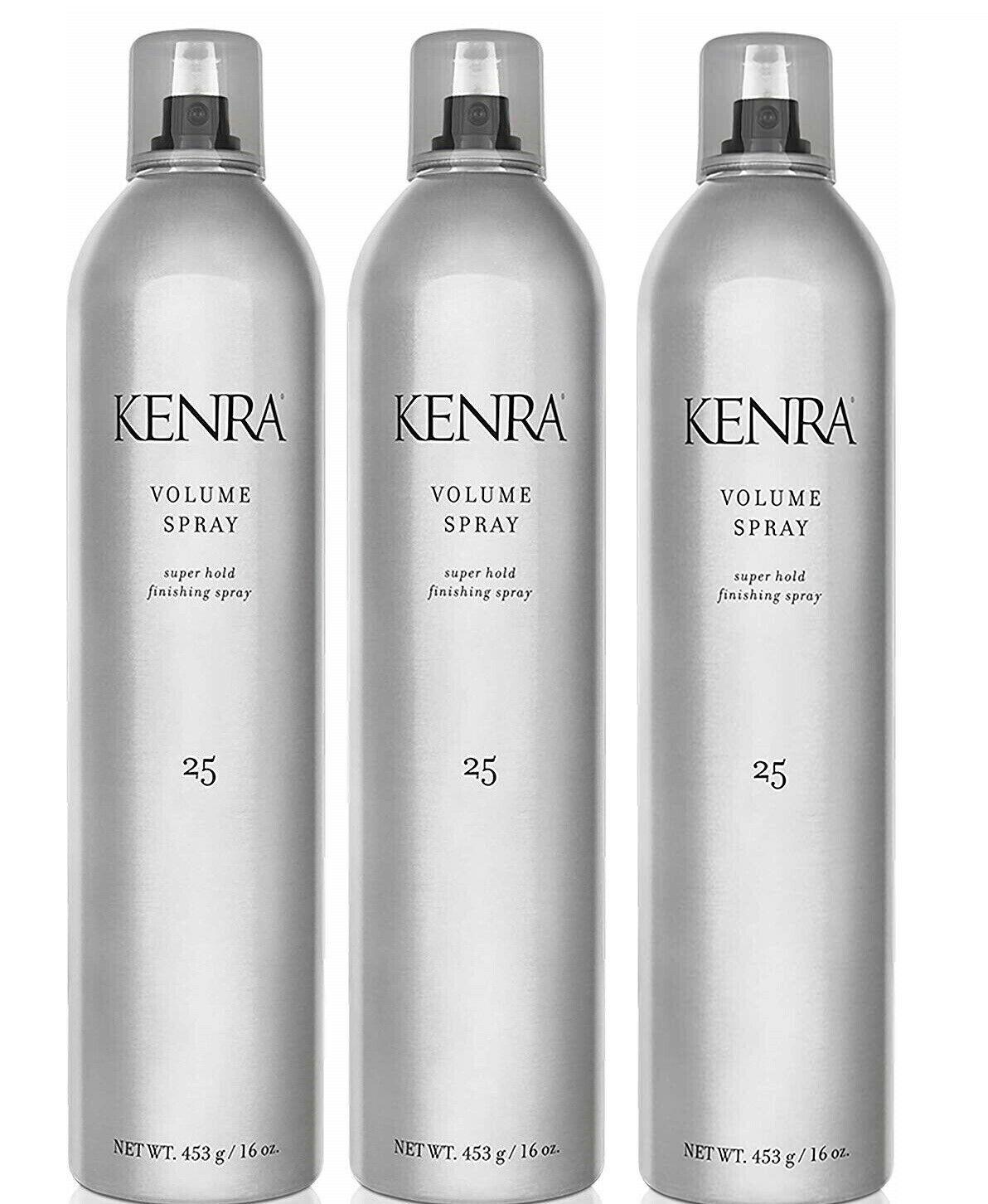 Kenra # 25 Volume Spray 16 Oz Each, Pack of 3 Cans, Super Ho