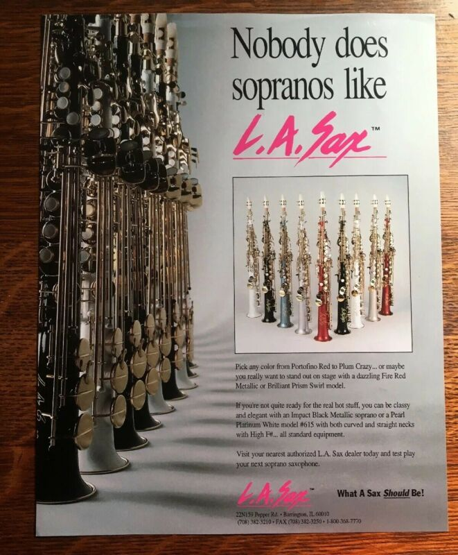 Vintage L.A. Sax Nobody does Sopranos Like L.A. Sax Manufacture Pinup