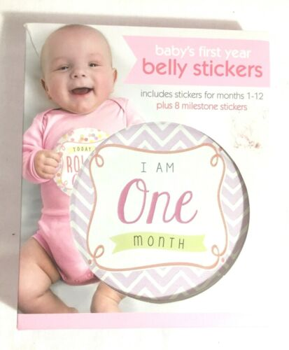 Baby's First Year Belly Stickers For Photos With Milestone Stickers NEW In Box