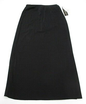 new IMPRESSIONS #DR4964 Women's Size S Long Casual Modest Midi Black Maxi Skirt