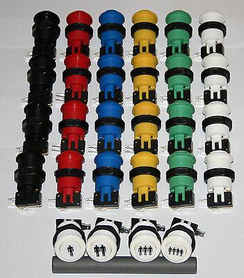28 x Arcade Taster Mame Aktionstaster Automat DIY Jamma Multicade Bartop Set Kit