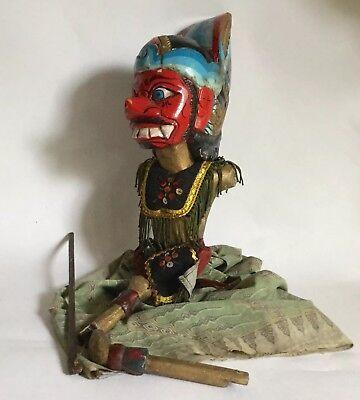 Vintage Wayang Golek Indonesian Javanese Puppet Missing One Arm Spares Repairs