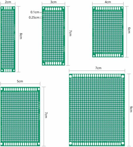 Quimat Double Sided PCB Board Prototype Kit 59 pcs NEW