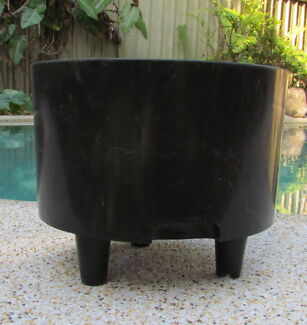 Large Black Self Watering Pot Planter 22cm