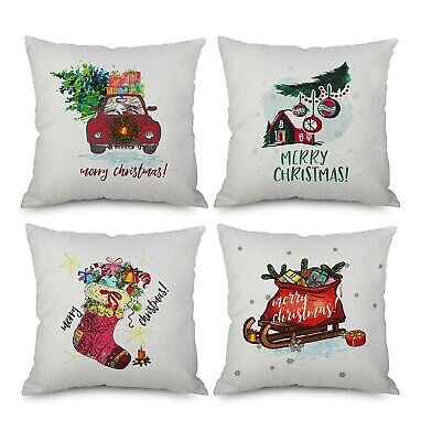 Christmas Decoration Throw Pillow Covers18 x 18Inch Set of 4