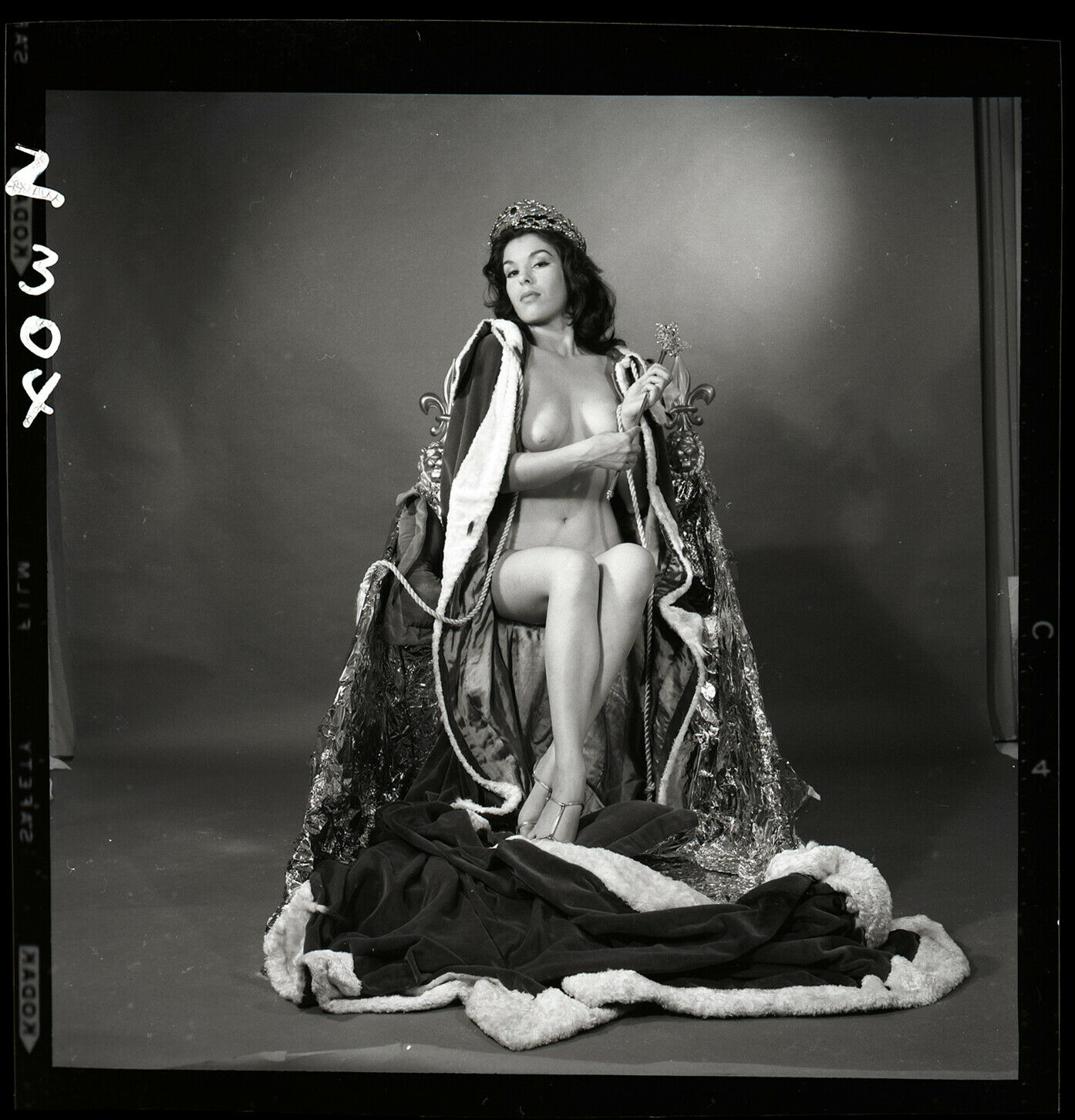 ROGUE MAG ZODIAC FRAN STACY NUDE Bunny Yeager 1961 Orig 2 1/4 Camera Negative - $162.50