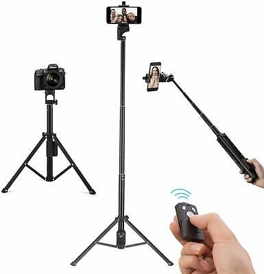 "Selfie Stick Tripod Extendable 54"" Bluetooth Remote Control Portable Phone Stand"