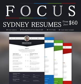 FOCUS Professional Resume + Letter Writers Sydney. CVs From $60