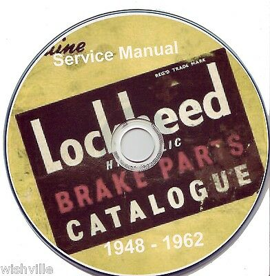 Lockheed Brakes Parts Information  Circa 1948 - 1962 DVD