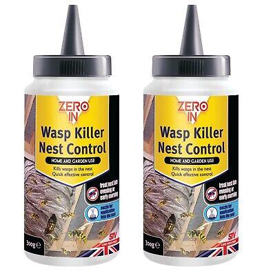 2 X 300g Wespe & Nest Killer Pulver Schnell Tötet Schädlingsbekämpfung Insekten