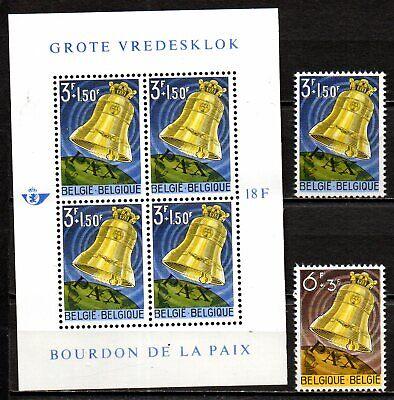 Bourdon de la paix  - série neuve 1241 / 1242 + bloc 34 - émis en 1963.