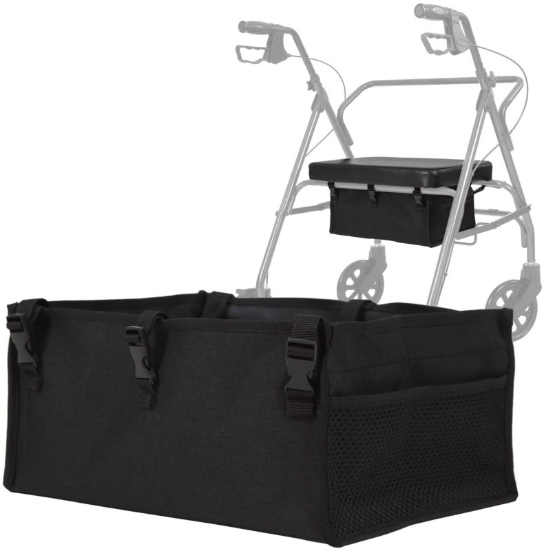 Vive Rollator Seat Bag - Walker Tote Accessories for Underse