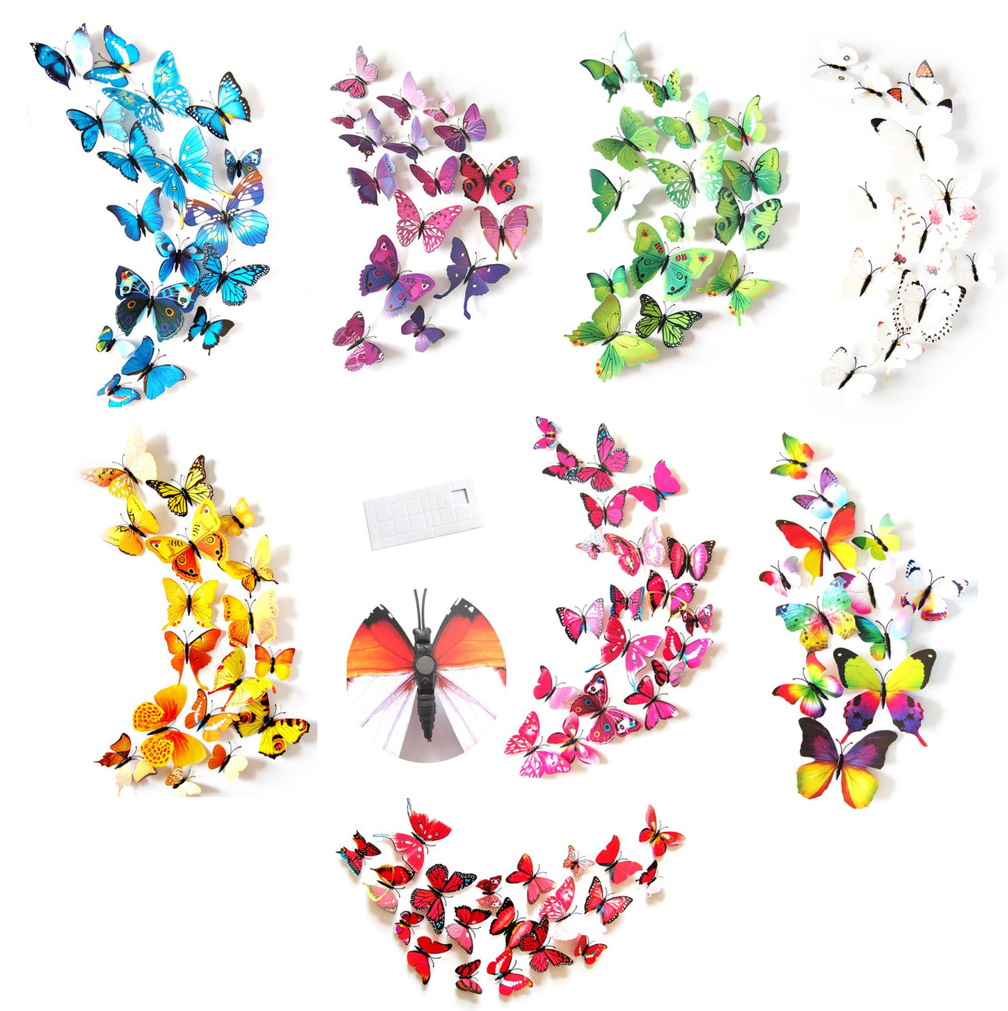 Home Decoration - Butterfly Wall Stickers / Magnet, 3D Art Decals Home Room Decorations Decor Kids