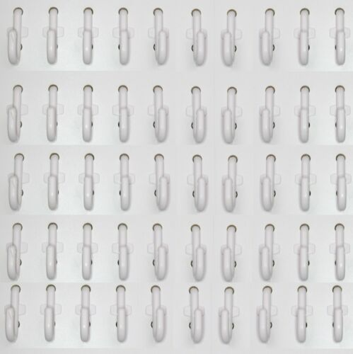 Plastic White J Hook Peg Board Hook Kit Garage 100 pieces PEGBOARD NOT INCLUDED