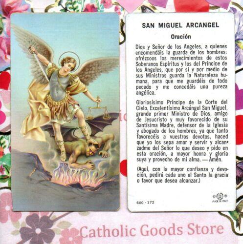 San Miguel Arcangel - Oracion - Spanish  - Paperstock Holy Card
