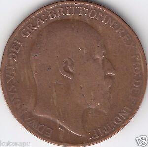 Großbritannien 1910 - King Edward VII.- One Penny Münze - <span itemprop=availableAtOrFrom>Gmunden Oberösterreich, Österreich</span> - Großbritannien 1910 - King Edward VII.- One Penny Münze - Gmunden Oberösterreich, Österreich
