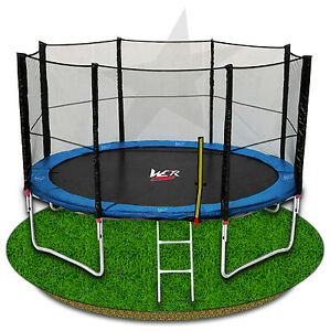6FT-8FT-10FT-12FT-14FT-Trampoline-With-Safety-Net-Enclosure-Ladder-Rain-Cover