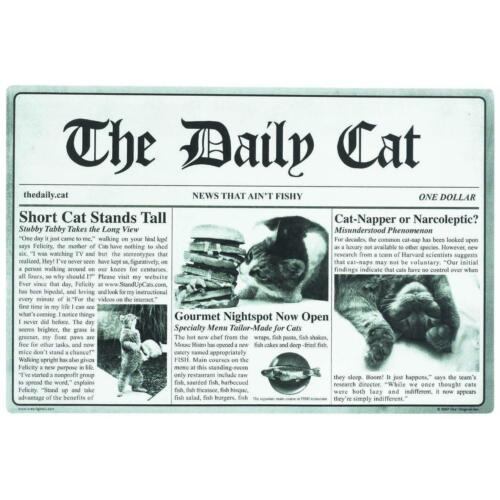 """Pet The Daily Cat Placemat 18""""x12"""" Cat Table Plastic Dinner Lunch Mat NEW"""