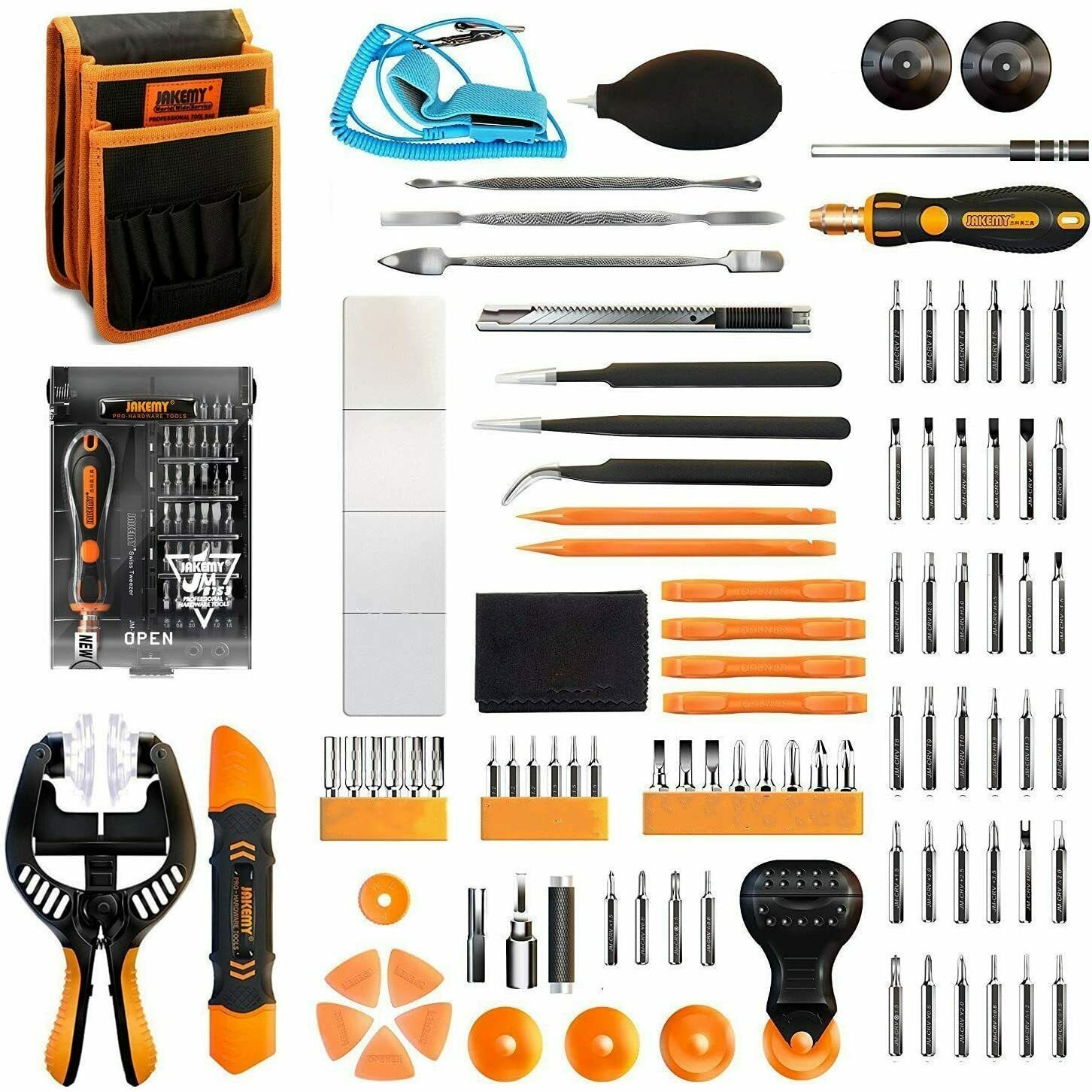 99 Pcs Repair Tools Set Kit for iPhone Tablets Cell Phone Computers Screwdriver