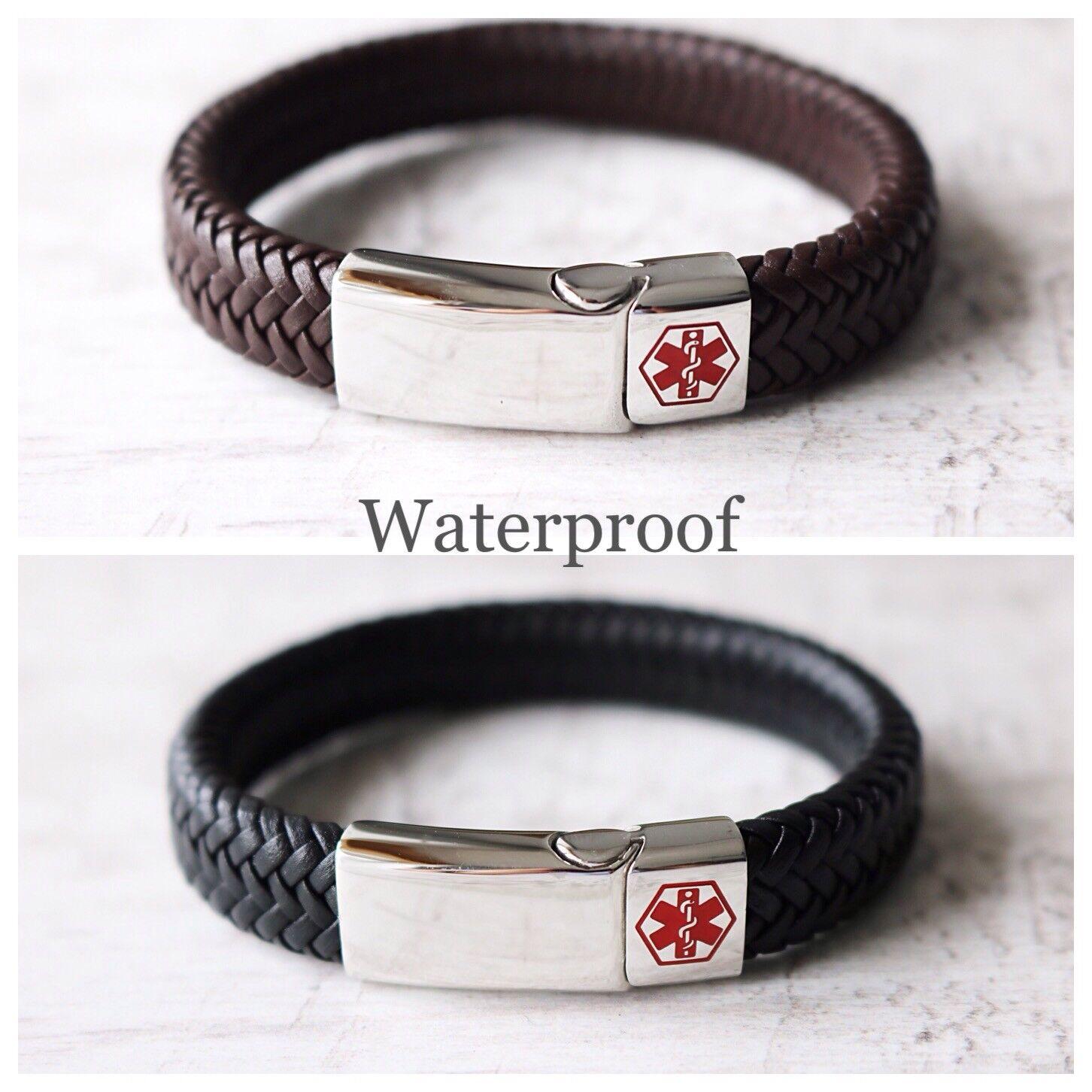 Medical Alert Bracelets >> Details About Medical Alert Bracelet Medical Id Bracelet Waterproof Medical Bracelet