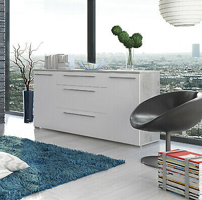 Credenza moderna mobile madia multi spazio bianco 2 ante salotto soggiorno sala