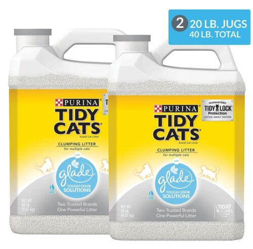 Purina Tidy Cats Clumping Litter with Glade Twin Pack (20 lb., 2 ct.),Easy clean