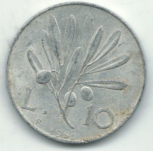 A HIGH GRADE 1950 R ITALY 10 LIRE PEGASUS COIN-NOV119