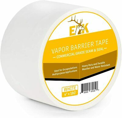Vapor Barrier Seam Tape For Crawlspace Carpet And Floors White 4in X 180ft