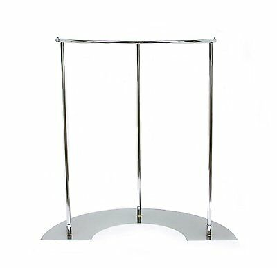 Newtech Display R-hr54mc Half Round Retail Store Rack Metal Base Mirror Chrome