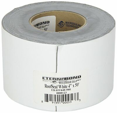 "4"" x 50 ft Eternabond Roof Leak Repair Tape Patch Seal - WHITE - 50 Feet 50 Foot"
