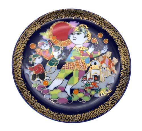 "Rosenthal Studio Bijorn Wiinblad Aladdin / Aladin Plate - #2 Street Urchins 6.5"""