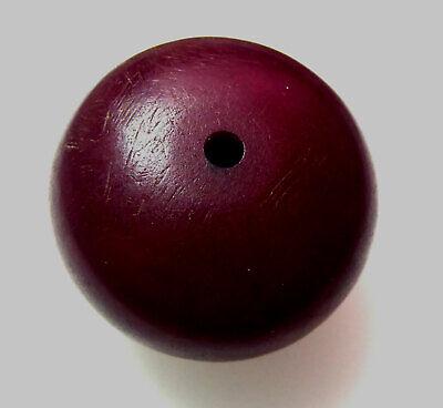 Big Estate Found African Phenolic Bakelite Cherry Amber Trading Bead 39.7x25.2mm