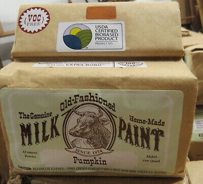 Milk Paint, Pumpkin, 1 Quart, The Old-Fashioned Milk Paint - Pumpkin Painting Party