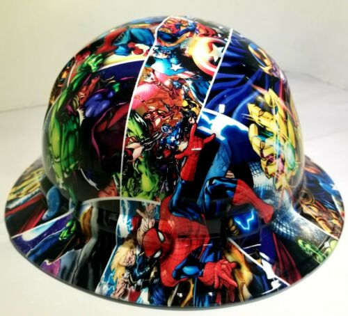 FULL BRIM Hard Hat custom hydro dipped , NEW SUPER HEROES END GAME NEW PYRAMEX 1