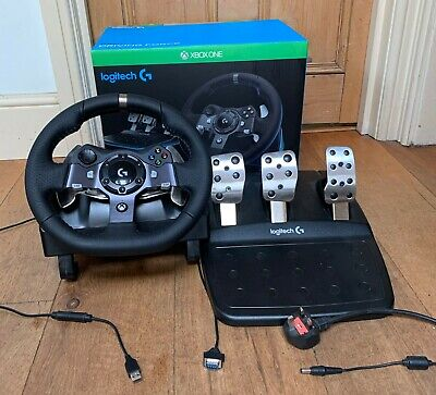 Logitech G920 UK Driving Racing Wheel for Xbox One and PC (Second Hand)