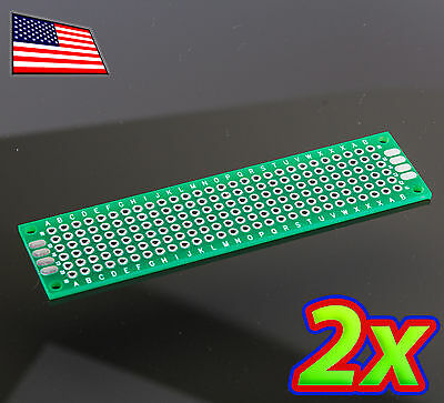 2x 2 X 8 Cm Diy Pcb Prototype Circuit Solder Breadboard - Discrete And Dip