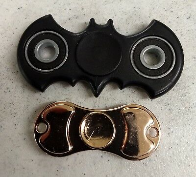 Lot of 2 Fidget Spinners, Skateboard shape & BATMAN