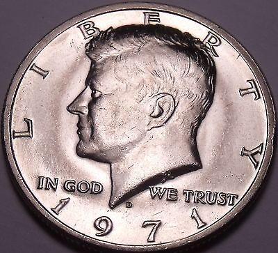 UNITED STATES UNC 1971 D KENNEDY HALF DOLLAR