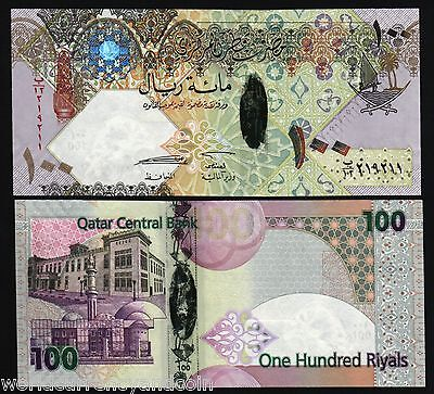 QATAR 100 RIYALS P26 2007 *REPLACEMENT* POLYMER HYBRID BOAT FALCON UNC BILL NOTE