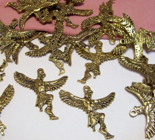 BULK LOT-30 GOLD NATIVE SOUTHWEST CHARMS-KACHINA-EAGLE DANCER-JEWELRY PENDANTS-