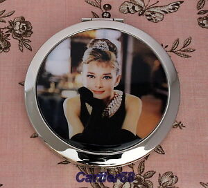 Audrey-Hepburn-Vintage-Style-Handbag-Lady-Compact-Mirror-FREE-Gift-Box-and-Pouch