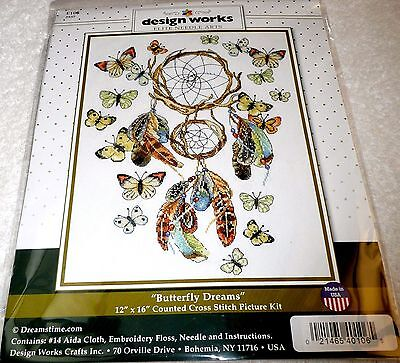 Design Works Janlynn Counted Cross Stitch Picture Kit BUTTERFLY DREAMS