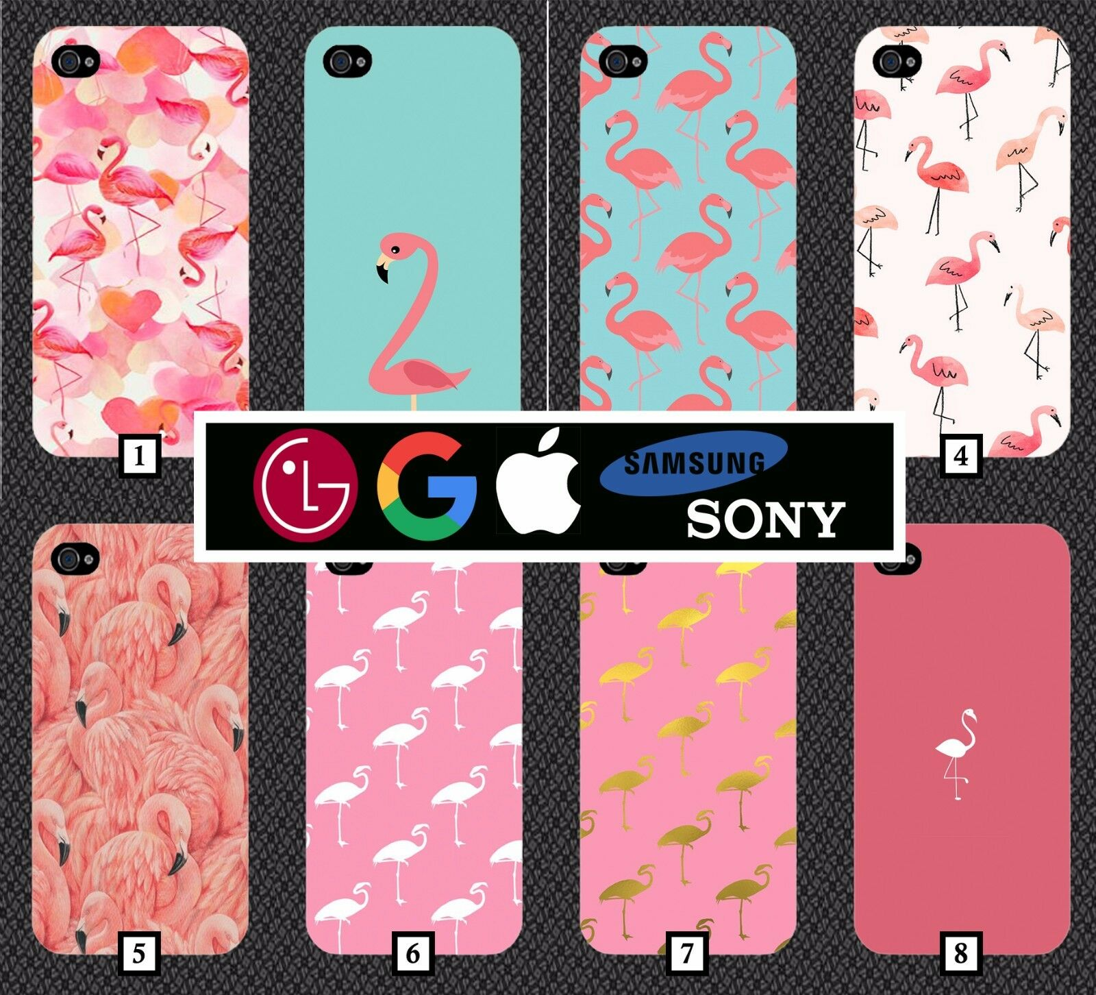 Image of Flamingo Phone Case Cover Iphone 6 Galaxy S7 Se S8 Iphone 7 Google Pixel 2 50