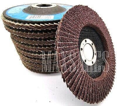 10 4-12 X 78 Aluminum Oxide 60 Grit Grinding Wheel Sand Paper Flap Disc