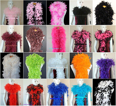 180 Gram Chandelle Feather boas 20+Color/Pattern Costume Wedding Theater Quality](Color Costume)